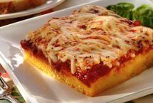 Polenta Squares with Tomato Sauce