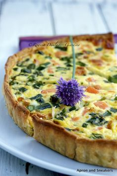 Apron and Sneakers - Cooking & Traveling in Italy and Beyond: Salmon, Asparagus & Brie Quiche