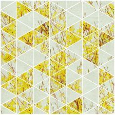 geometric photo design abstract botanical print vibrant home decor - Yellow and Grey Geometric. $25.00, via Etsy.