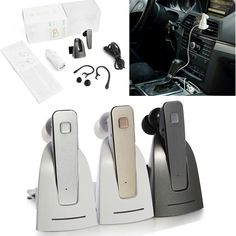 Mini Stereo Car Bluetooth headset Wireless bluetooth Headfree bluetooth car kit  earphone headphone with base Charging Dock