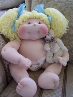 20 inch Dinkybaby Doll Lil Beth Made by Vicki Riley Made of Dolskin | eBay