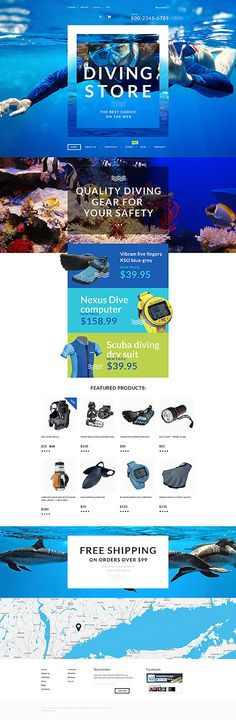 Diving Store Online #WooCommerce #template. #themes #business #responsive #WooCommercethemes