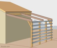 Amazing Shed Plans - How to Build a Strong and Sturdy Lean-to Roof More - Now You Can Build ANY Shed In A Weekend Even If You've Zero Woodworking Experience! Start building amazing sheds the easier way with a collection of shed plans! Storage Building Plans, Storage Shed Plans, Built In Storage, Diy Storage, Building A Pergola, Building A Shed, Pergola Plans, Pergola Ideas, Greenhouse Ideas