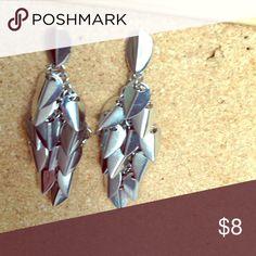 Silver statement earrings Long earnings Vince Camuto Jewelry Earrings