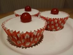 Kim from Cakes from Kim's bakewell tart cupcakes