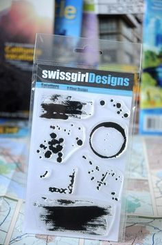 swissgirlDesigns - Splatters - Clear Stamps. $14.99, via Etsy.