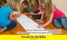Love this quote from Picasso! Every child is an artist. Smart Sayings, Smart Quotes, Creativity Quotes, Projects For Kids, Picasso, Growing Up, Effort, Social Media, Children