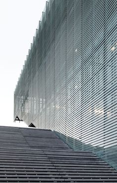 facciata lamelle sul centro sportivo Jules Ladoumègue a Parigi - Colt