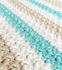 Love these colors!! Thinking of making a larger version for my living room. Sweet Ocean Breeze Baby Blanket via Little Monkeys Crochet