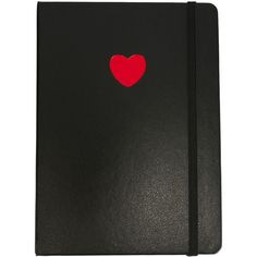 Marc By Marc Jacobs Heart Notebook (1.650 RUB) ❤ liked on Polyvore featuring home, home decor, stationery, fillers, accessories and black