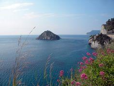 Bergeggi island  on The Liguria coast  by  luigi  rabellino