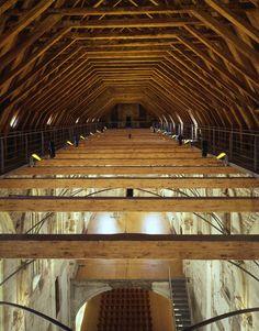 Reconstruction of St. Ann`s Church Prague, Czech Republic Interior Architecture, Interior Design, Timber Structure, Ancient Buildings, Restoration, Prague Czech, Czech Republic, Wood, Modern