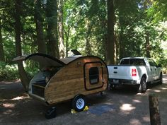 My first camping trip with my new teardrop camper.  (birch bay state park.)