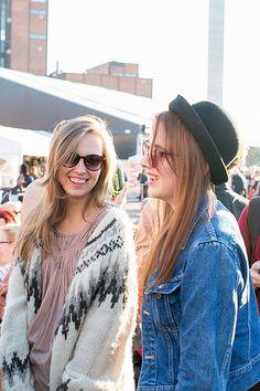 Smiley happy people by Maija Astikainen, Flow Festival 2012