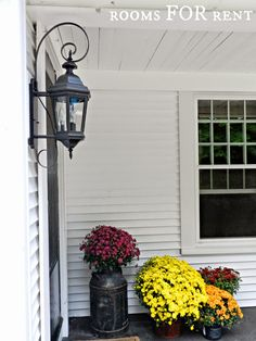 ~rooms FOR rent~: Fall Porch and New Outdoor Lanterns