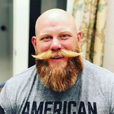 Different beard and mustache combos to choose from. Full beards, Circles beards, Goatees, Van Dykes etc beard styles with a cool mustache. Bald Men With Beards, Bald With Beard, Red Beard, Great Beards, Long Beards, Awesome Beards, Hairy Men, Full Beard, Bearded Men