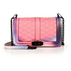 Rebecca Minkoff Quilted Love Gradient Leather Crossbody Bag (1.635 BRL) ❤ liked on Polyvore featuring bags, handbags, shoulder bags, apparel & accessories, graffiti pink, red leather purse, red leather shoulder bag, pink leather handbag, rebecca minkoff crossbody and leather crossbody