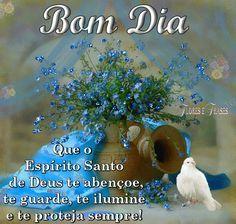 Flores e frases: QUE O ESPÍRITO SANTO DE DEUS TE PROTEJA SEMPRE!
