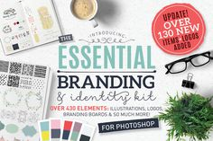 Essential branding kit for Photoshop by Lisa Glanz on @creativemarket