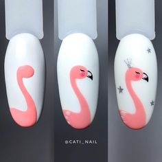 Animal Nail Designs, Animal Nail Art, Nail Art Designs Videos, Nail Art Videos, Cartoon Nail Designs, Pretty Nail Art, Cute Nail Art, Nail Art Diy, Easy Nail Art