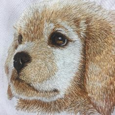 最近チクチクしていたゴールデンレトリバーの仔犬。 出来上がった! フレームは今発注中。 #ししゅう #いぬ #いぬ刺しゅう#ステッチ#embroidery