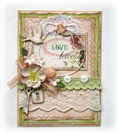 Card: Love Letters Card **Websters Pages Western Romance**