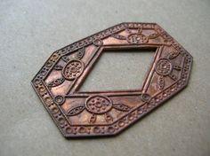 Rare Copper Art Deco Findings  Solid by BohemianGypsyCaravan