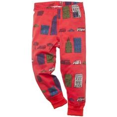 """architecture 101"" leggings in red"