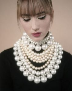 How much is too much? We just can't get enough of pearl jewelry.