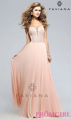 Faviana Strapless Sweetheart Chiffon Prom Dress Open Back Prom Dresses 95b6ba060