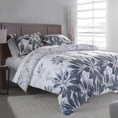 Divatex Home Fashions Juliette Bedding Comforter Set, White/Gray