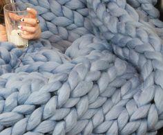 XXL couverture Chunky Merino laine couverture Throw par Merrisson