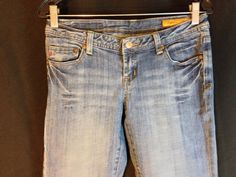 Seven 7 Premium Denim Brand Classic Flare Women's Blue Jeans Size 28 Brand Name Clothing, Denim Branding, Seven7, Distressed Denim, Flare Jeans, Jeans Size, Size 10, Classic, How To Wear