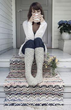 Villasukat Saimaa Novita 7 Veljestä High Socks, Handicraft, Knitting Patterns, Harem Pants, Tips, Fashion, Craft, Moda, Thigh High Socks