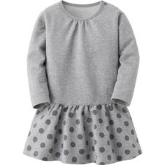 UNIQLO BABY INFANT Long Sleeve Dress (15 BRL) ❤ liked on Polyvore featuring baby clothes, baby, baby girl and girls dresses