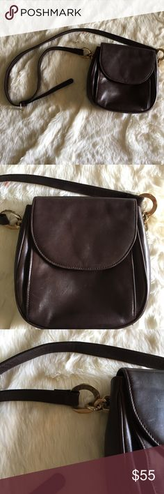 The Leather Co. & Liz Claiborne Crossbody Bag Genuine leather.  7.5 in x 2.5 in x 7.5 in  Long adjustable strap. Bags Crossbody Bags