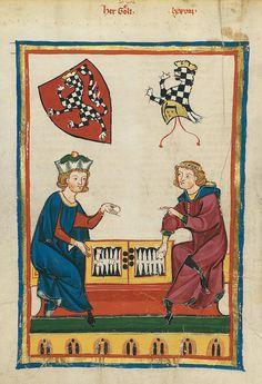 Codex Manesse, UB Heidelberg, Cod. Pal. germ. 848, fol. 262v: Herr Goeli