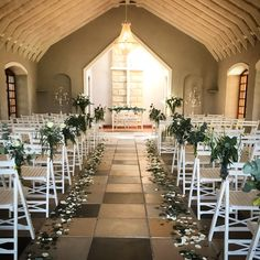 A green & white wedding ceremony setup with petals down the aisle and mass arrangements Event Styling, Fresh Flowers, Personalized Wedding, Floral Arrangements, Wedding Ceremony, Bliss, Floral Design, Table Decorations, Green