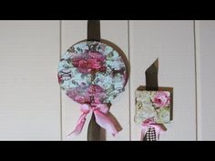 Clock from Canvas Decoupage with Fabric tutorial/Forgive the music problems in the first minute of the video-there were 3 power outages while editing! Mother Nature….