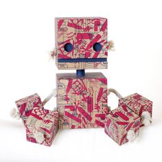 Graphic Designer Camo Block Bot  Limited Edition by OhDierLiving, $75.00