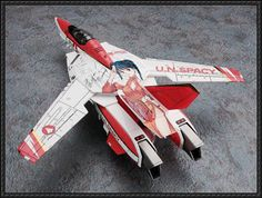 Macross - VF-1D Valkyrie Free Aircraft Paper Model Download - http://www.papercraftsquare.com/macross-vf-1d-valkyrie-free-aircraft-paper-model-download.html