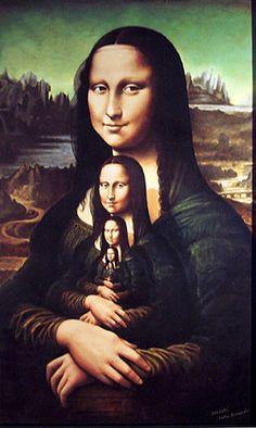 Rafal Olbinski I seem to have Mona Lisas everywhere - no idea why.