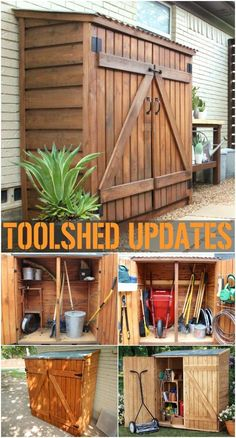 diy storage shed easy With these DIY shed plans, you will be able to build the storage sheds of your dreams without spending a lot of money plus these DIY shed plans are easy and quick to build. Building A Storage Shed, Garden Storage Shed, Storage Sheds, Building Ideas, Building Design, Patio Storage, Building Plans, Outdoor Storage, Backyard Sheds