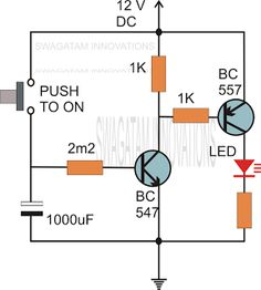 In many electronic circuit applications a delay of a few seconds or minutes becomes a crucial requirement for ensuring correct operation of the circuit. Without the specified delay the circuit could malfunction or even get damaged. Engineering Technology, Electronic Engineering, Electrical Engineering, Hobby Electronics, Electronics Projects, Battery Charger Circuit, Electronic Circuit Design, Electrical Circuit Diagram, Dc Circuit