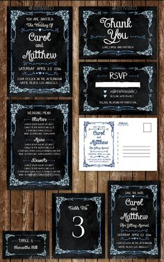 RetroChalkboardWeddingInvitation  Flyer Templates