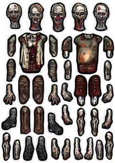 Dawn Of The Walking Living Zombie Type Dead Dolls. by MadunTwoSwords on DeviantArt