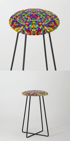 Happy Triangle Mandala 2 Counter Stool by David Zydd #BestCounterStools #MandalaCounterStool #MandalaDesign #Stool #Artwork #ColoredMandala #Pattern #Spirituality #Gift #MandalaPattern (tags: society6, yoga, sacred geometry, boho, geometry, stool, multicolored, home decoration, color mandala, mandala, interior, boho decor, colorful, ornament, counter stool, mandala furniture, abstract, geometrical, gift)