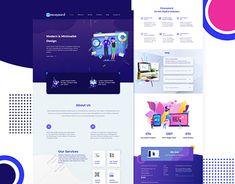 Ui Ux Design, Graphic Design, Adobe Xd, Landing Page Design, Mood Boards, New Work, Behance, Profile, Website