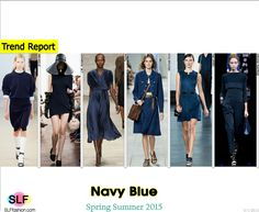 Trendy Colors for SS 2015: Navy blue (autumn shades).  Jil Sander, J.W. Anderson, Tome, Michael Kors, Jason Wu, and Emporio Armani Spring Summer 2015. #SLFfashion