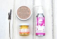 Organic Baby Gift Idea Gift Bundle Beautiful Body Balm Baby Oil Nappy Balm Baby Shower